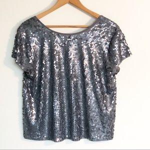 Express sequin T-shirt - gray/silver